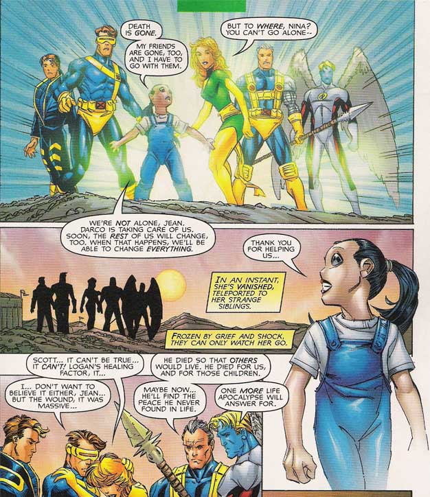 the scott and jean archives the astonishing x men vol 2 3 suddenly all the telepaths are attacked psionically wolverine and archangel prepare to attack when death grabs wolverine s foot from under him and drags